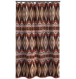 Pecos Trail Southwestern Fabric Shower Curtain #westbysouthwestdecor