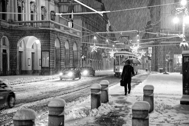 La Scala: snowfall by angelocesare, via Flickr