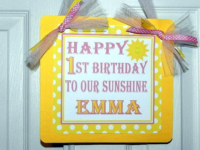 You Are My Sunshine Birthday Party Welcome Door by APartyWithPaper