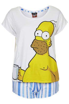 Homer Simpson PJ Tee and Shorts - Sleepwear - Clothing