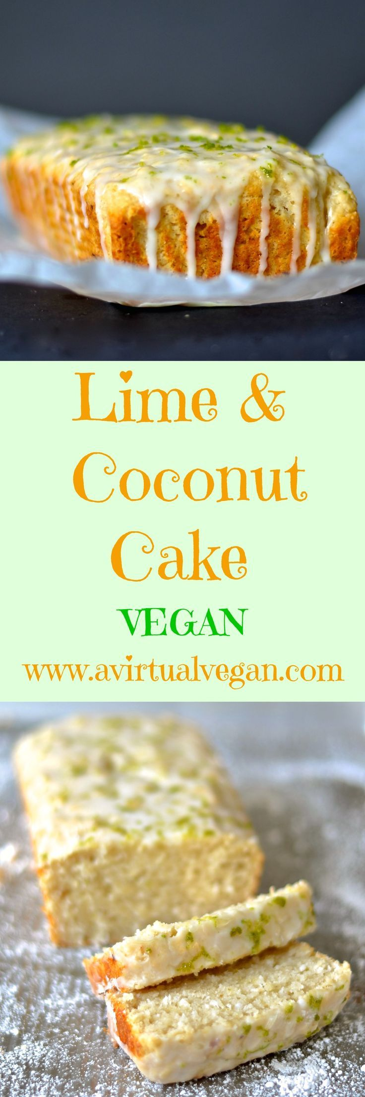 Citrus and tropical flavours combine in this light & delicious Lime & Coconut Cake with a sticky, zesty glaze. Dairy & egg free.