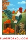 Rooster's Roost Garden Flag