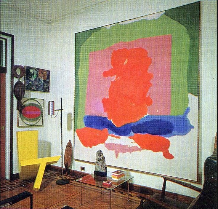 abstract #art #interior: Artists, Living Rooms, Abstract Art, Art Inspiration, Interiors, Robert Motherwell, 1967 Issues, Helen Frankenthaler, Painting