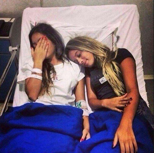lit, le meilleur ami, mode, amitié, hôpital - image #2448070 par ...