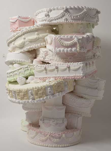 Will Cotton, Sweet, 2009-2010, polystyrene, acrylic polymer, pigment, gypsum, 46 x 38 x 38 inches. Courtesy of the artist and Mary Boone Gal...