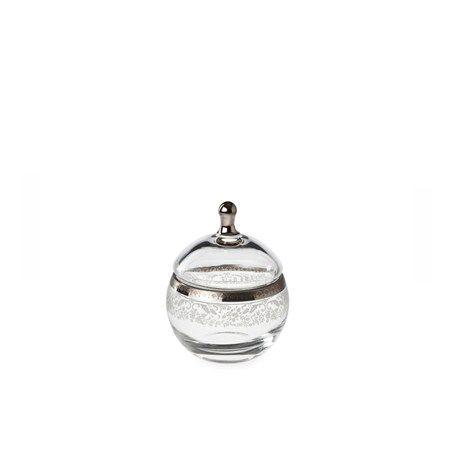 Bridal Platinum Şekerlik / Sugar Bowl #bernardo #tabledesign #glass #platinum