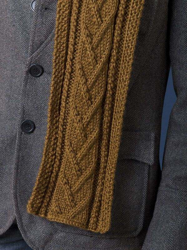 Combo Cable Scarf - absolutely love this one if there's a way to do it primarily gray with the blue accenting inside
