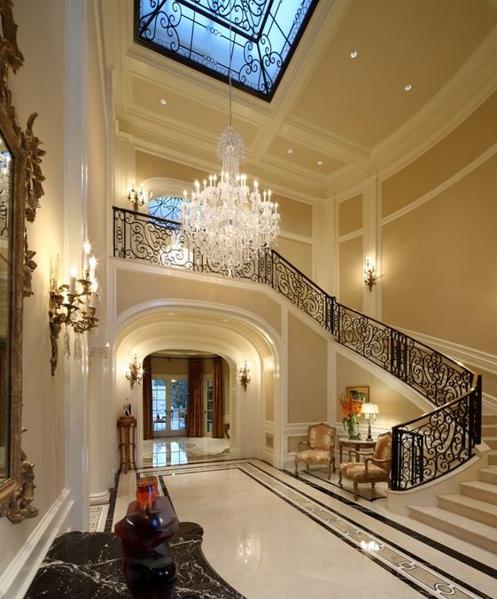 Luxury Homes Foyer 286 best entrence & foyer images on pinterest | stairs, homes and