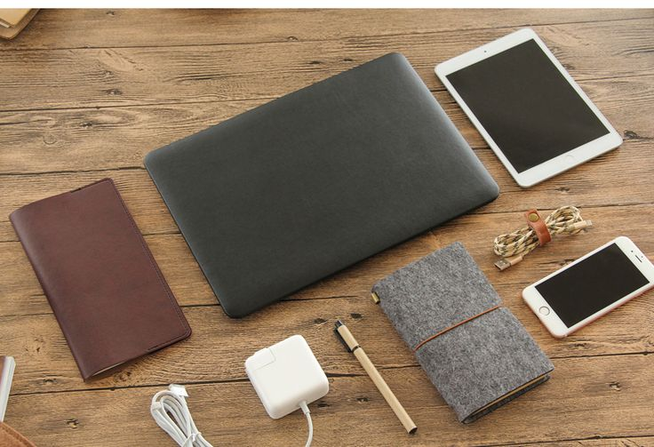 Premium Quality PU Leather Book Cover Clip on Sleeve Case Cove for Macbook Air 11/13,Macbook Retina 12, Macbook Pro/Retina 13/15