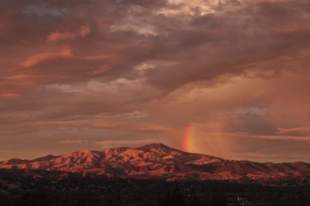 My Brother took this picture he is an amazing photographer DANVILLE, CA: Rainbow on Mt. Diablo. Photo Credit: Kevin Noble @teamrampantlion