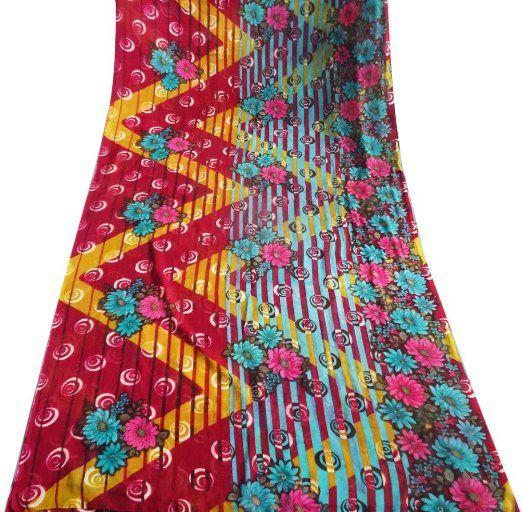 indian Saree mestiere epoca decorazioni per la casa tessuto astratto stampato donne vestito utilizzati avvolgono cucire tenda sari stampato drappo 5YD EURO 11,46