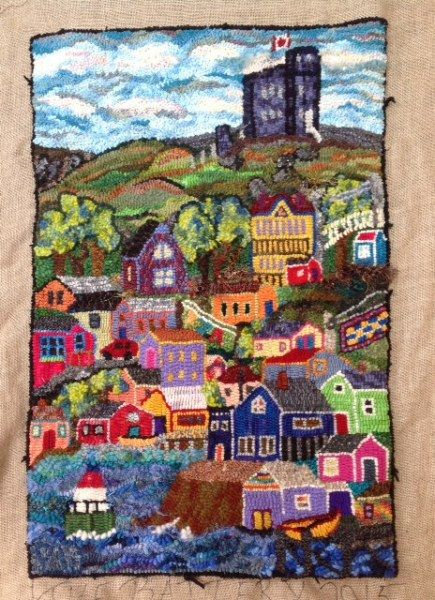 The Battery By Paula Weiss Rug Hooking