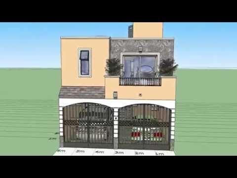 Casa de 6x15 mts de terreno youtube casas con for Casa minimalista 7x15