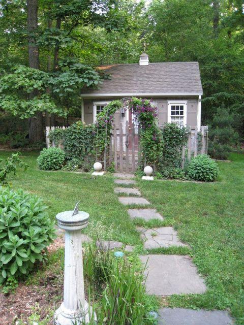 17 migliori idee su giardino shabby chic su pinterest - Shabby chic giardino ...