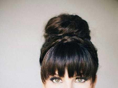 14 Long Hair Cuts with Bangs                              …