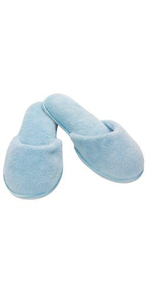 Blue Fleece Slippers for Women