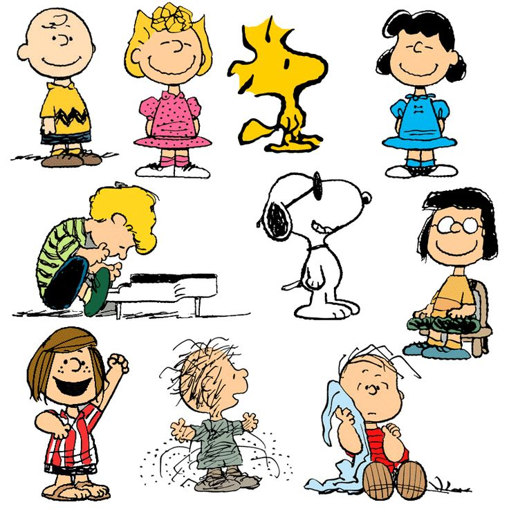 It's the Peanut's gang.  Charlie Brown, don't trust Lucy, she'll pull the Football away at the last second.  Don't trust her.  You trusted her again!  Good Grief.