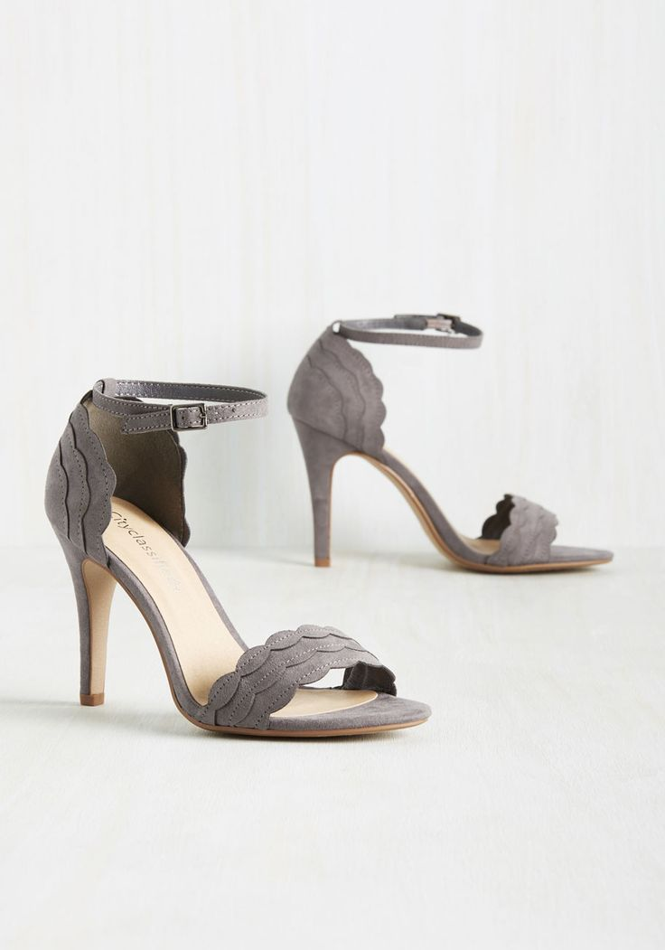 Have the World by Detail Heel in Stone, #ModCloth