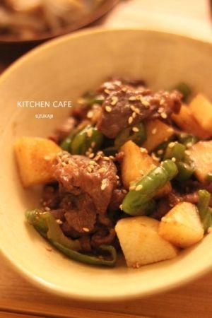 「牛肉と長いもの甘辛炒め」長いもって、炒めて食べるのも美味しいんです~!牛肉と甘辛味に仕上げました^^【楽天レシピ】