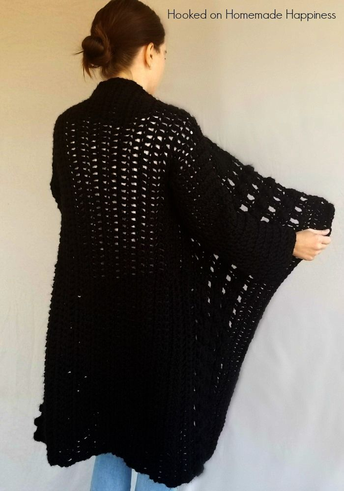 76fd324ac6ea Každodenné čierne Cardigan Crochet Pattern. Každodenné čierne Cardigan  Crochet Pattern Háčkované Šaty ...