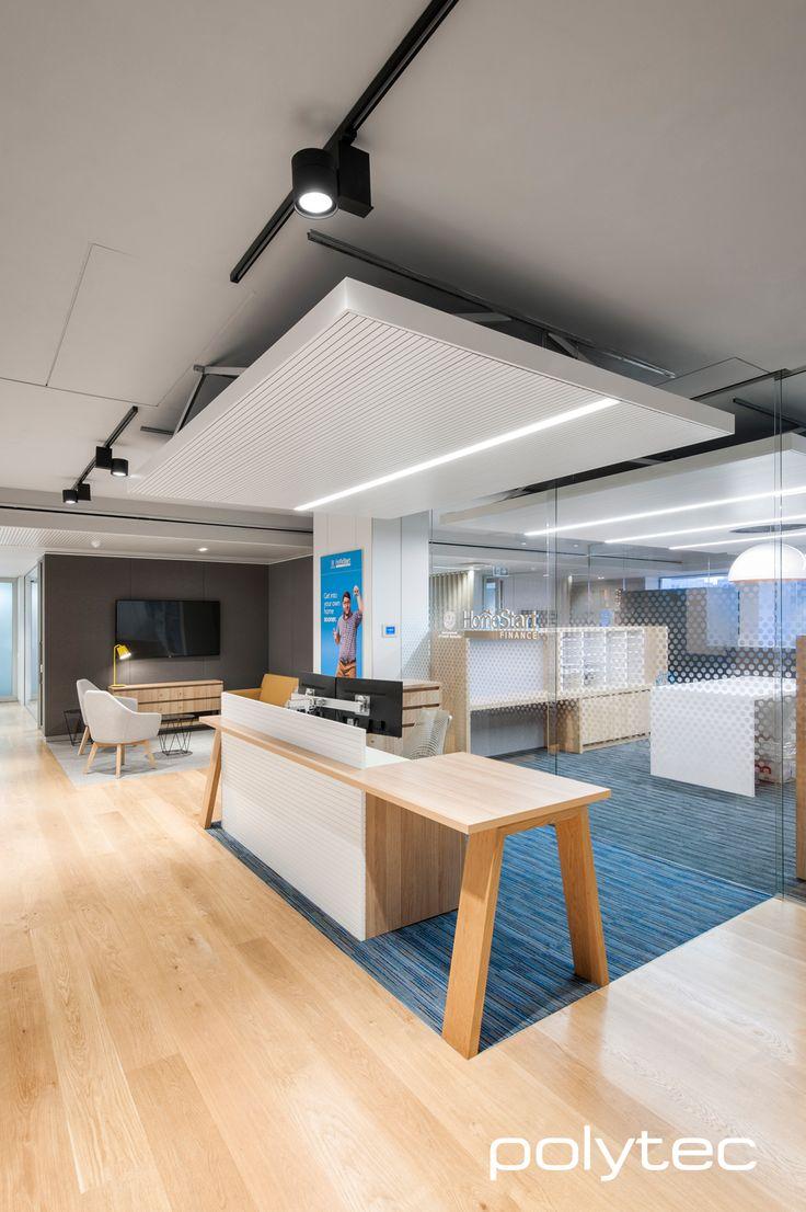 Office furniture in Natural Oak Ravine and Polar White Matt