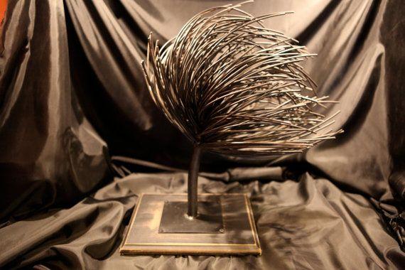 The metal tree sculpture handmade inspiration by AtelierIslandArt