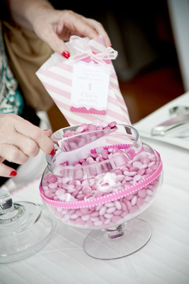 "Gorgeous ""Pretty in Pink"" first birthday party"