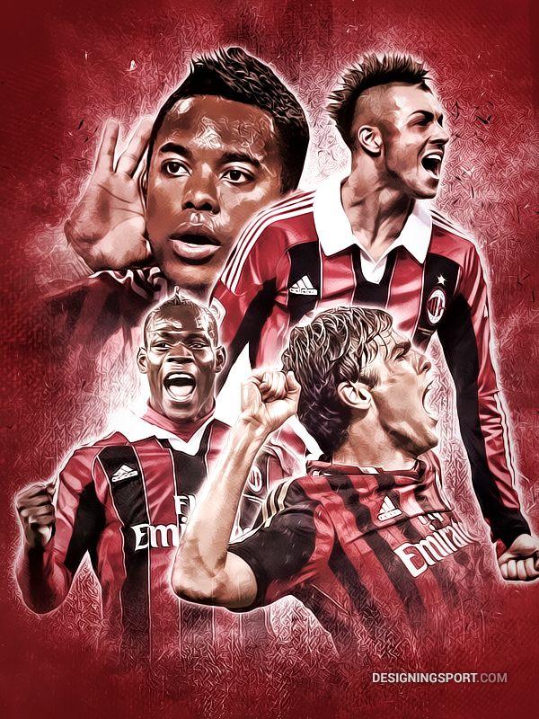 Balotelli, Kaka, Robinho, El Shaarawy (A.C. Milan)