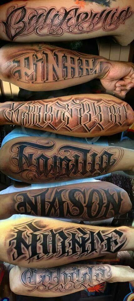 10 Tatuajes hombres letras