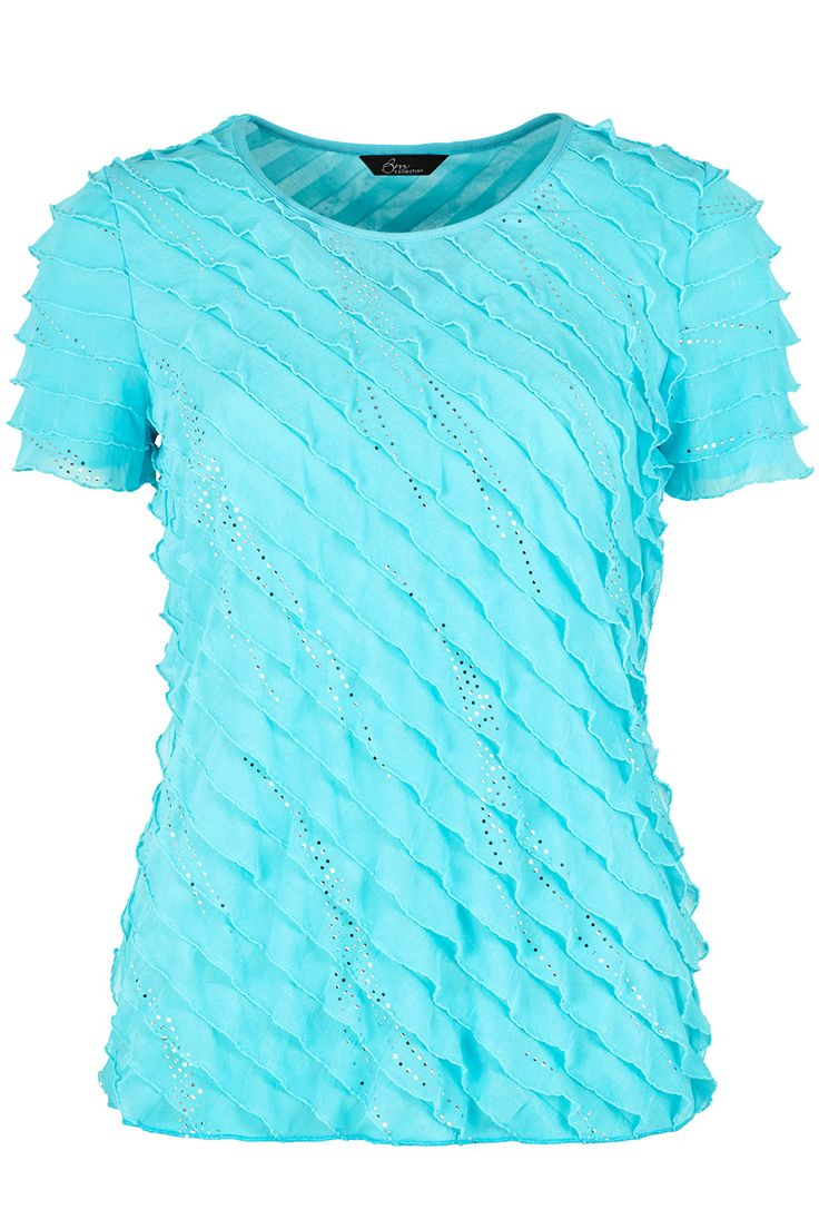 Ladies Blue Bias Frill & Sequin Top Bon Marché - I've seen this top in store & it looks far prettier than it does in the photo. They had it in purple too!
