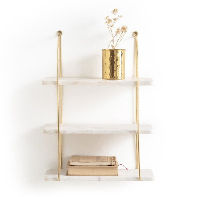 24++ White and gold floating shelves ideas