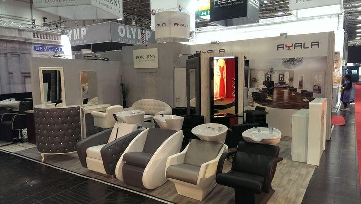 Ayala furniture stand at TOP HAIR 2015 fair in Dusseldorf- Germany. #Salonideas #Salondesign