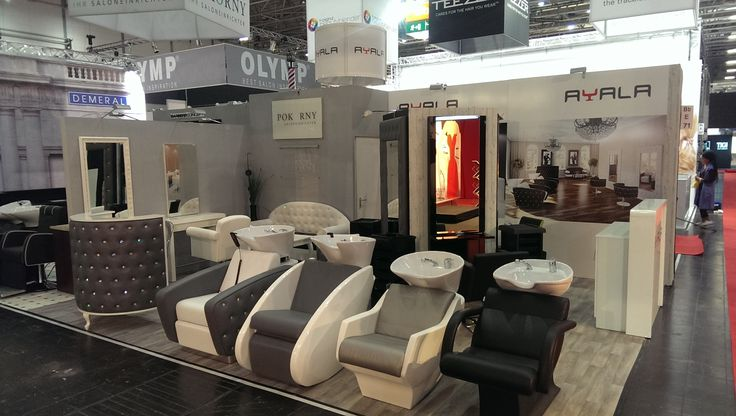 Ayala furniture stand at TOP HAIR 2015 fair in Dusseldorf- Germany. #Salonideas #Salondesign