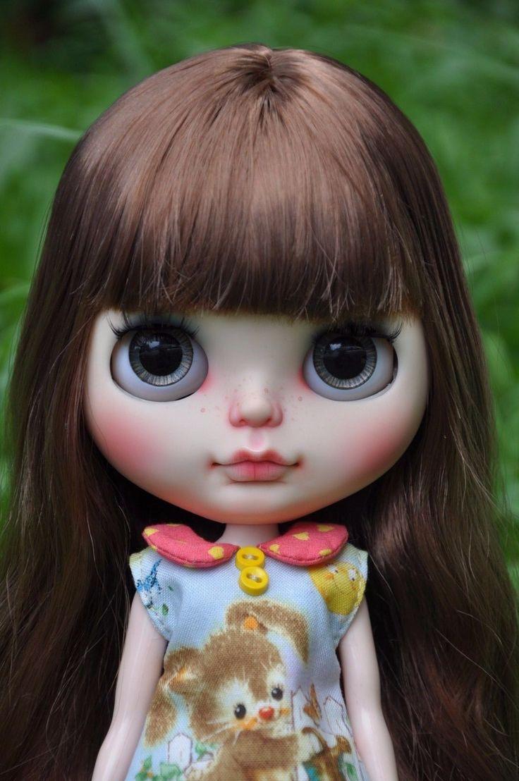 Custom Factory Blythe - hnědé vlasy | eBay