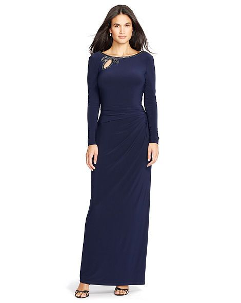 Beaded Jersey Gown - Lauren Evening Dresses - RalphLauren.com
