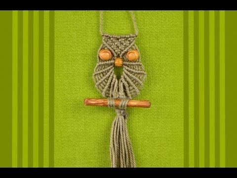 Macrame Owl / Makramee Eule / Макраме сова by Macrame School, lots of other videos