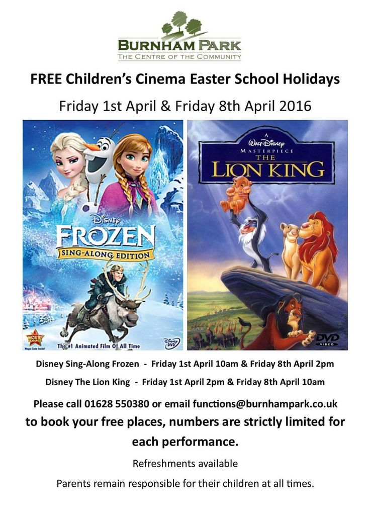 33 best maidenhead easter family fun 2016 images on pinterest free disney sing a long at burnham park community centre on fri 1st and negle Gallery