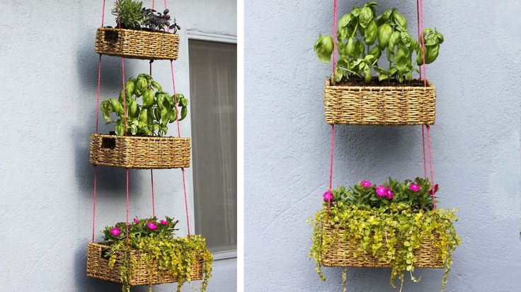 paniers suspendus jardinieres verticales