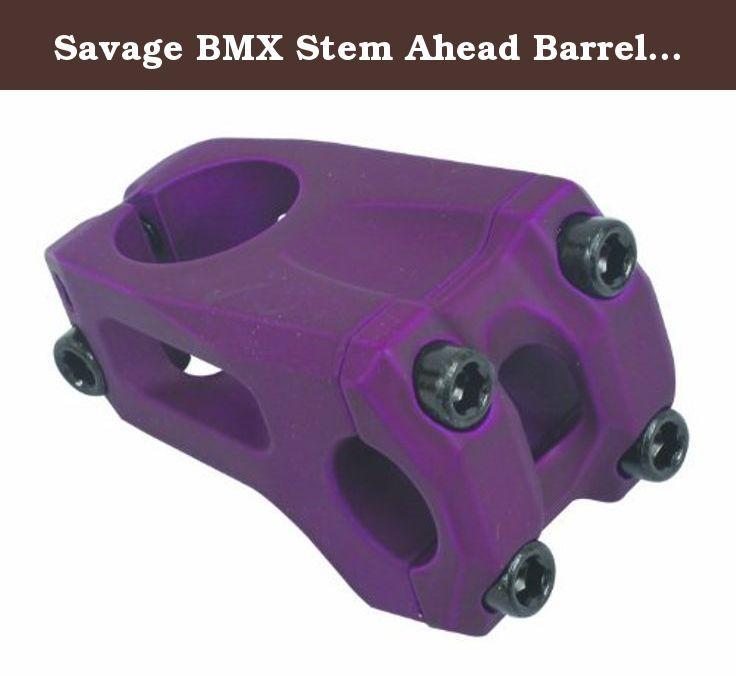 Savage BMX Stem Ahead Barrel - Purple, 28.6x22.2mm. BMX STEM Ahead 22.2mm Bar 28.6mm Steerer Flat Purple.