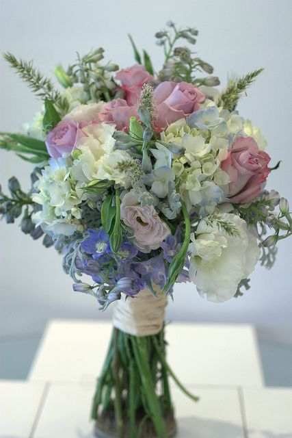 Wild blue and purple bridal bouquet @gpflowers