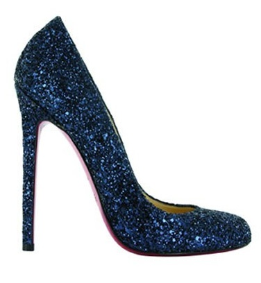 Louboutin blue sparkle | Shoe obsession