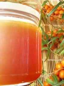 Gelée d'argousier et confiture argousier-fraise