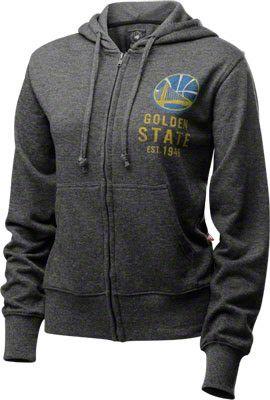 Golden State Warriors Women's Charcoal Achieve Hooded Sweatshirt