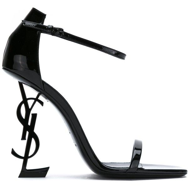 Saint Laurent YSL Ankle Strap Heel (11 830 ZAR) ❤ liked on Polyvore featuring shoes, pumps, kirna zabete, shoes /, square toe pumps, ankle wrap pumps, patent pumps, yves saint laurent pumps and patent leather pumps