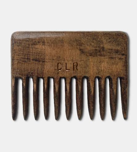 Custom Monogram O.G. Recycled Wood Beard Comb by McClaren Woodshop on Scoutmob Shoppe