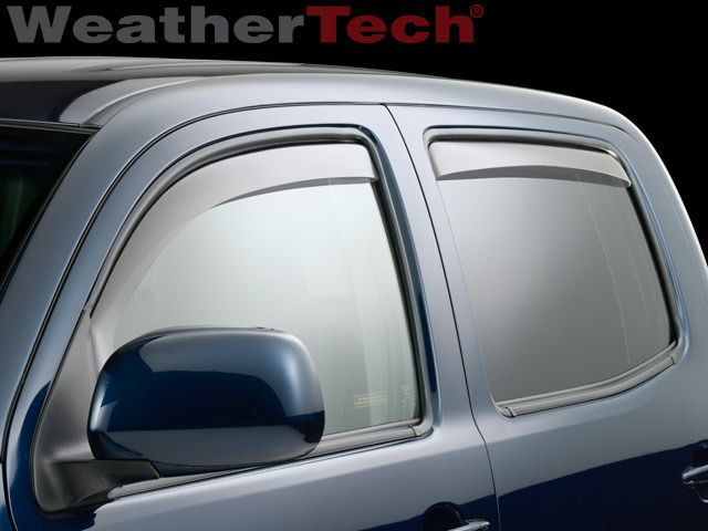 WeatherTech Custom Fit Front and Rear Side Window Deflectors for Toyota Tundra Double Cab Dark Smoke