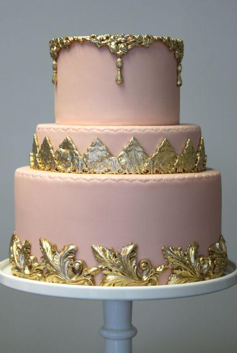31 best Cake images on Pinterest Cake wedding Gold cake and Petit