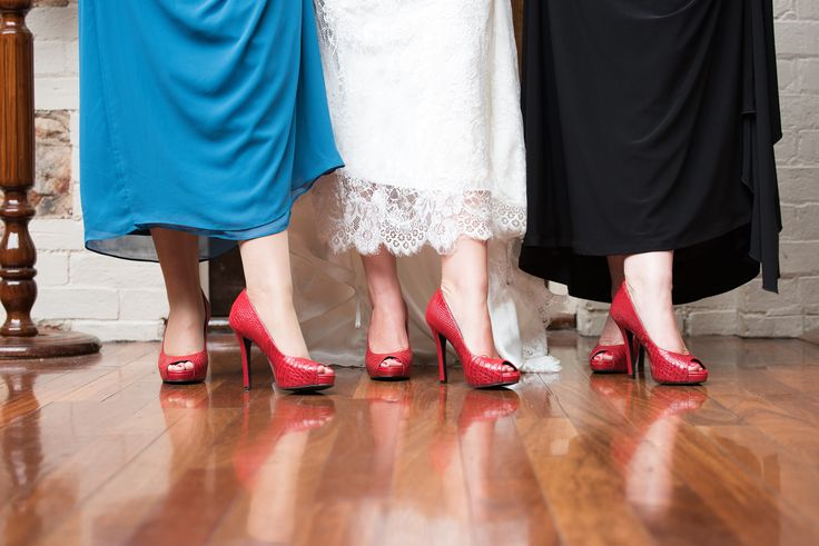 Looking for wedding shoes with a difference, Scarletto's are guaranteed to make the bride and her bridesmaids shine! The ladies in this shot are wearing the Lucifer Stiletto.
