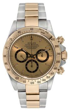 Rolex Daytona 18K Gold & Stainless Steel Watch. Get the lowest price on Rolex Daytona 18K Gold & Stainless Steel Watch and other fabulous designer clothing and accessories! Shop Tradesy now