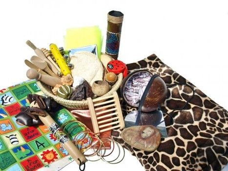 101 Items to put in treasure baskets for babies